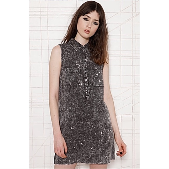 reasonable price authorized site lower price with Urban Outfitters Dresses | Uo Acid Wash Sleeveless Buttondown ...